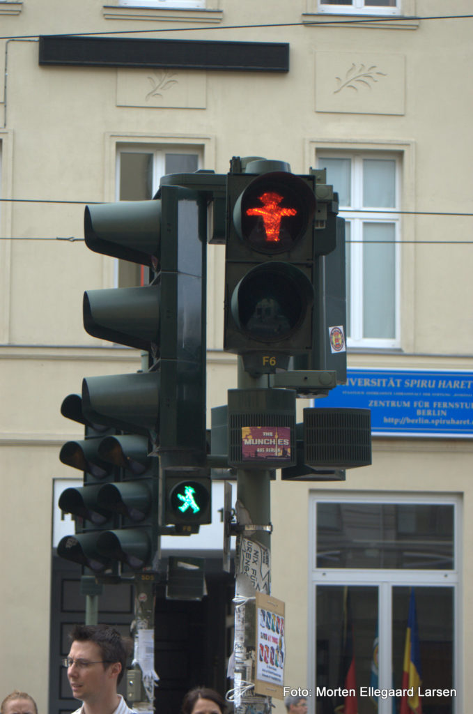 Der Ampelmann i Berlin – en spøjs seværdighed for turister